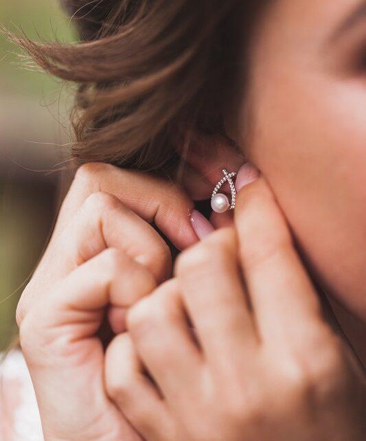 Gyöngy fülbevaló