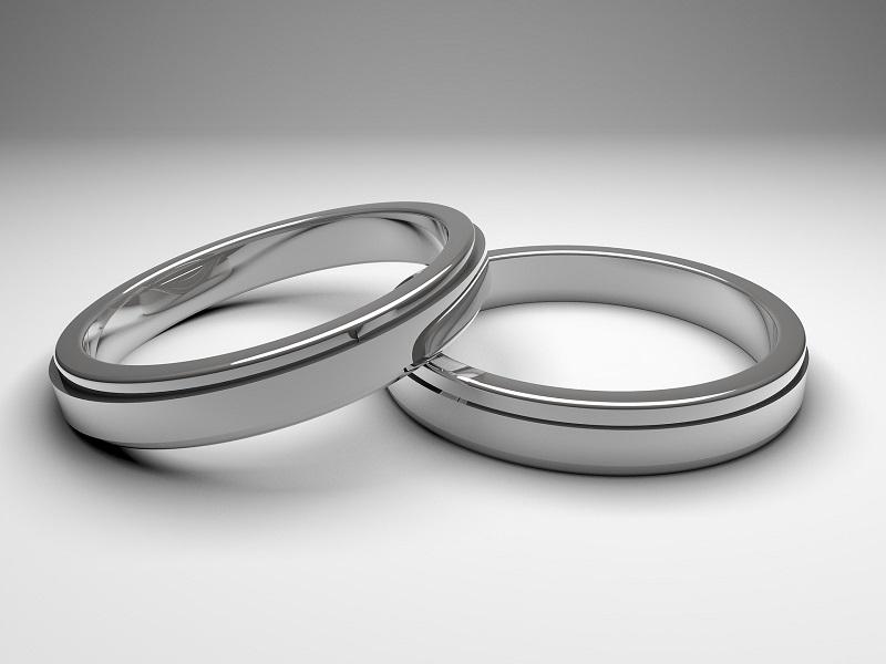 Ezüst férfi gyűrű